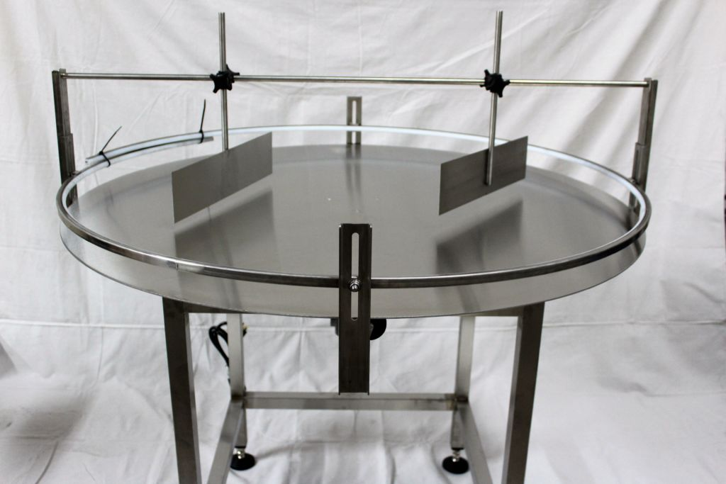 """Furex 36/"""" Dia Stainless Steel Accumulating Rotary Table with Unscrambler Unit"""